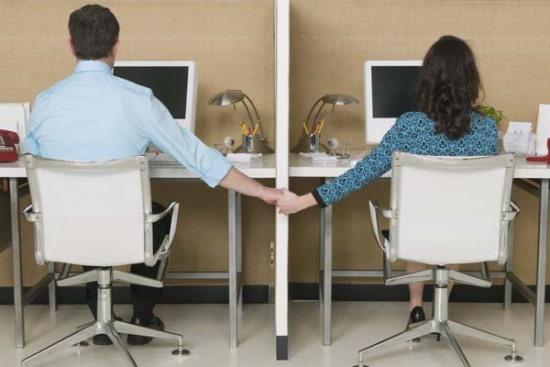 Namoro entre funcionários de uma empresa